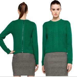 Rag & Bone New York Green Knitted Sweater Size M